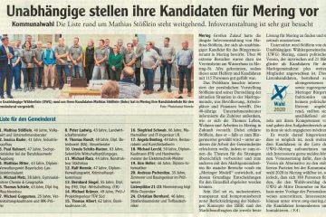Augsburger Allgemeine Zeitung vom 23.11.2019